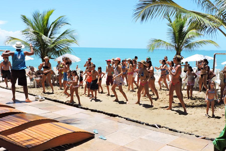Dança Na praia